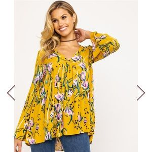 Free People Women's Bella Printed Tunic floral